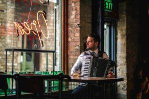 Accordionist Jonny portrait - Gypsy Jazz