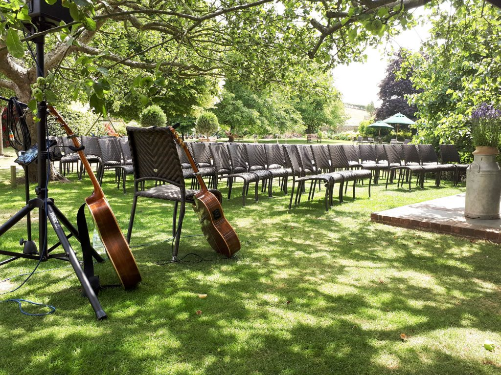 Guitarist wedding ceremony