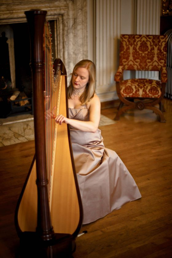 Cambridge Harpist Rebecca for Hire