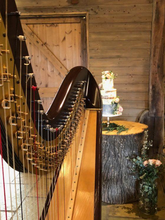 Harp and wedding cake