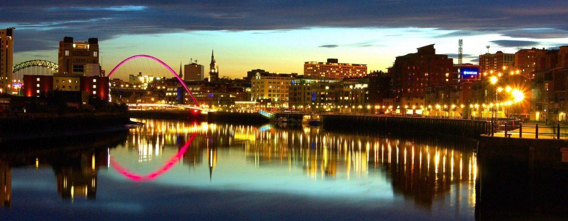 Newcastle Tyne Panorama at Night