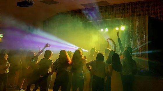 DJ dancing crowd