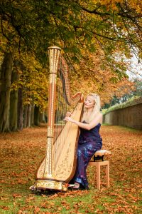 Leicester Harpist - Outdoors