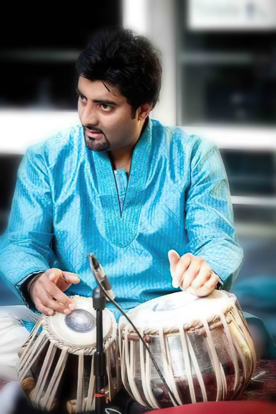 Tabla player with Naad Sitar