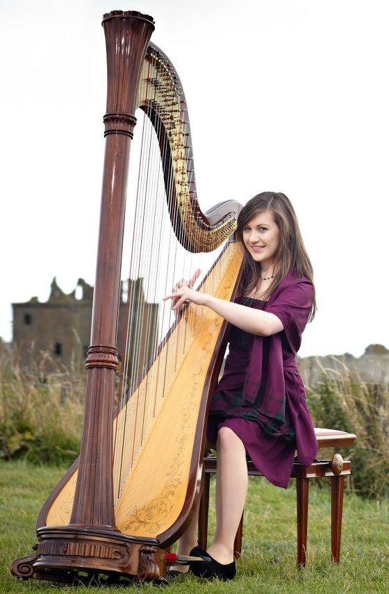 harpist outdoors