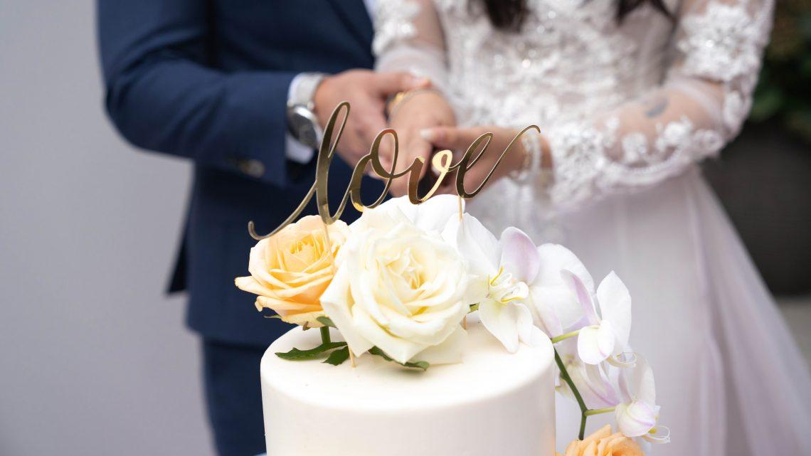 Wedding Cake, Couple, Love